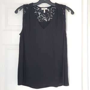 JOIE Black lace sleeveless blouse